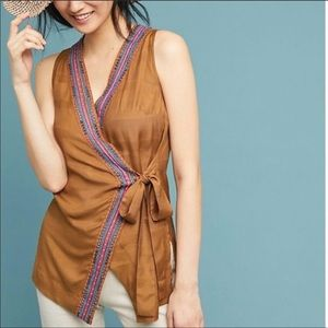 Anthropologie Liviana Wrap Tunic by Maeve Size MP